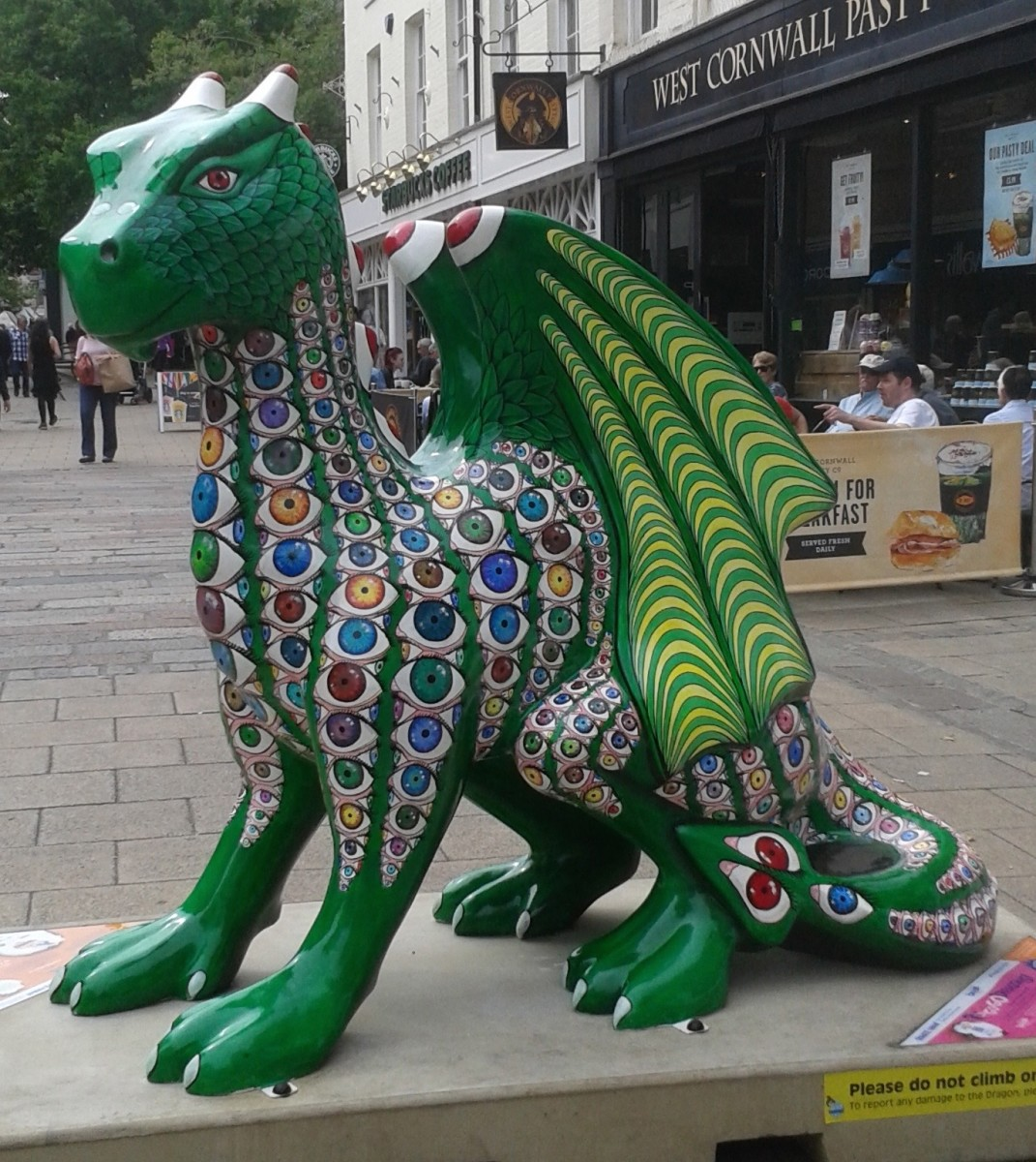 Dragons of Norwich, Norfolk: Statues of 2015; History of the Snap Dragon