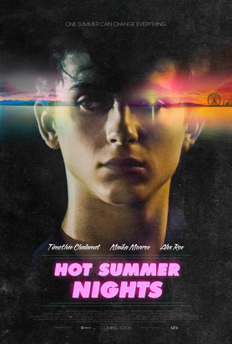 "The official theatrical poster for, ""Hot Summer Nights."""