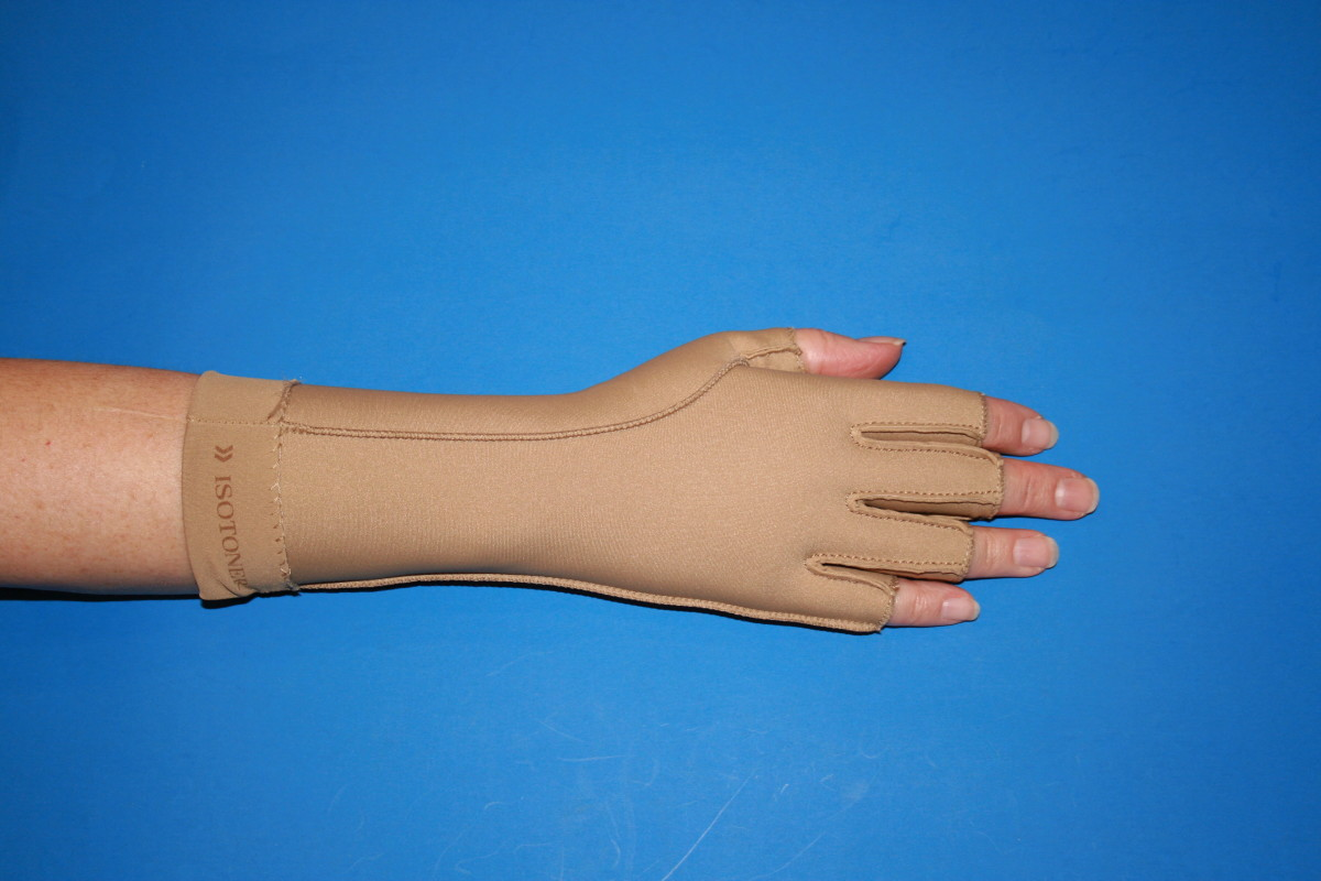 Fingertips-free gloves for wear in activities.