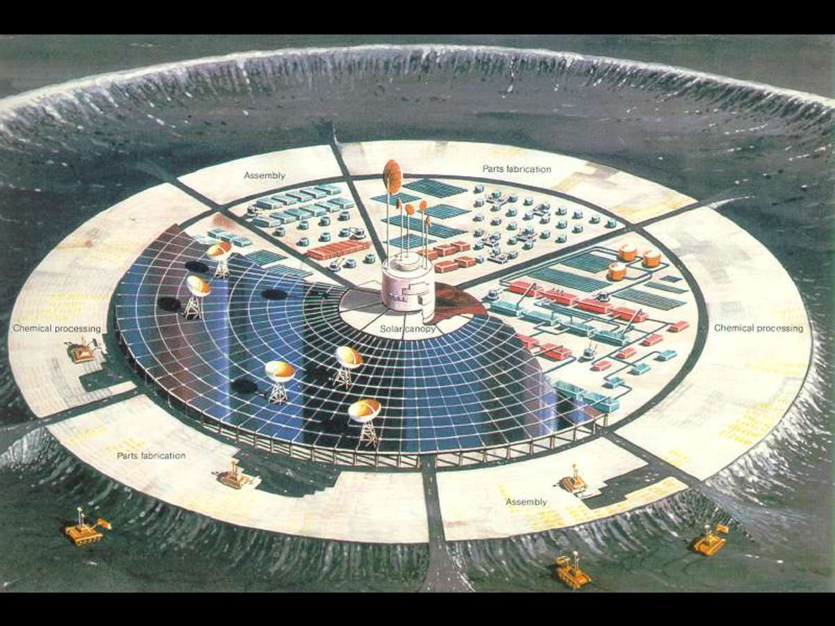 "NASA, 1982. ""Self-growing lunar factory."" Is a moon base the answer to uncontrollable hypertension?"
