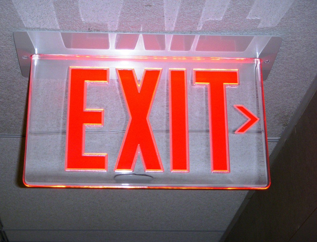 An agoraphobic will always know where the exit is!