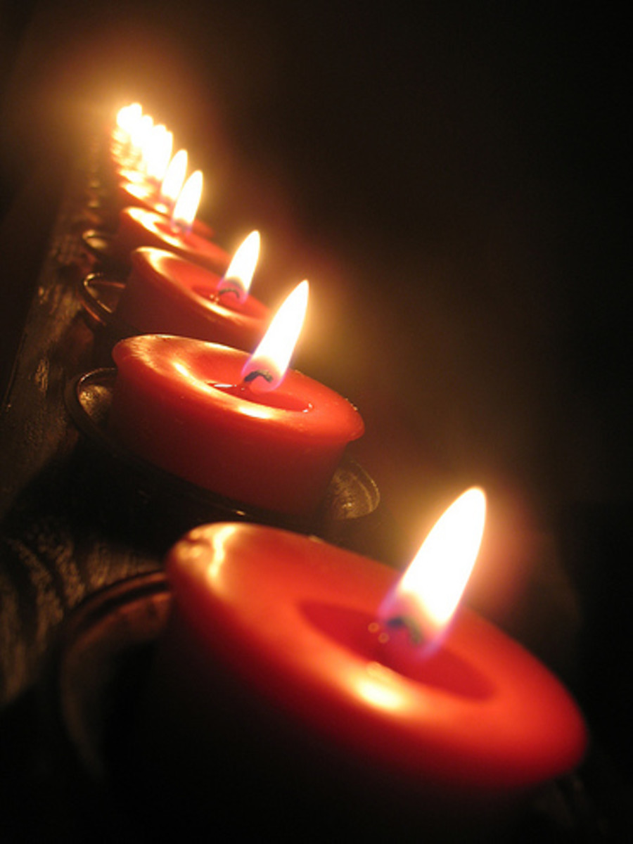Candles are good for a soothing calm atmosphere.