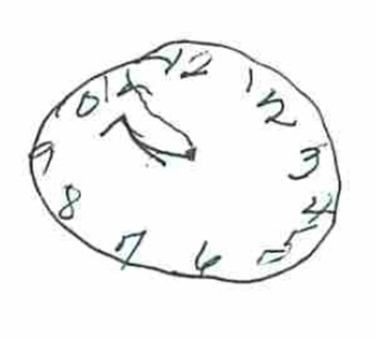 hand drawn clock
