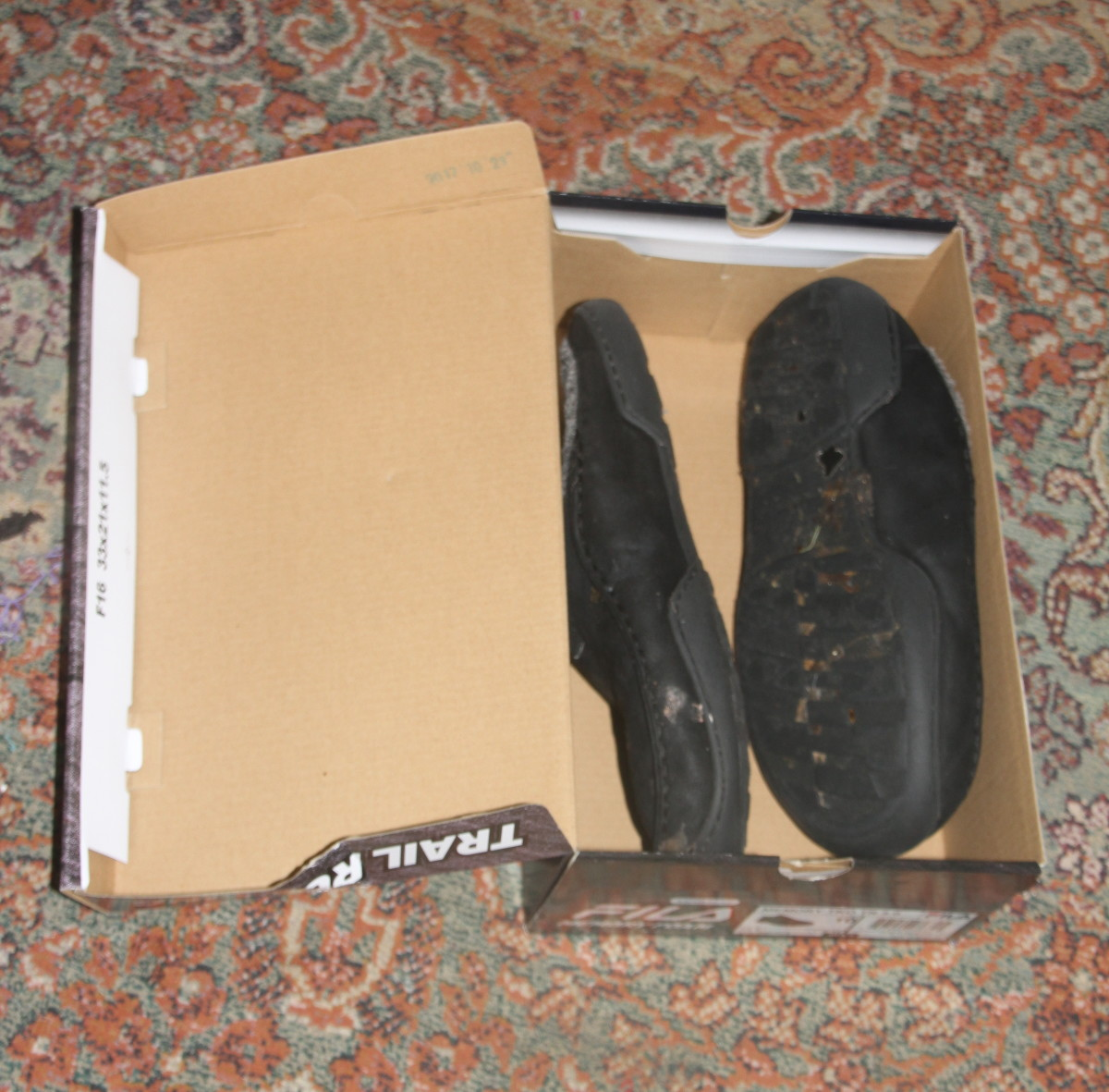 Shoe boxes are useful for organizing shoes and small clothing items.