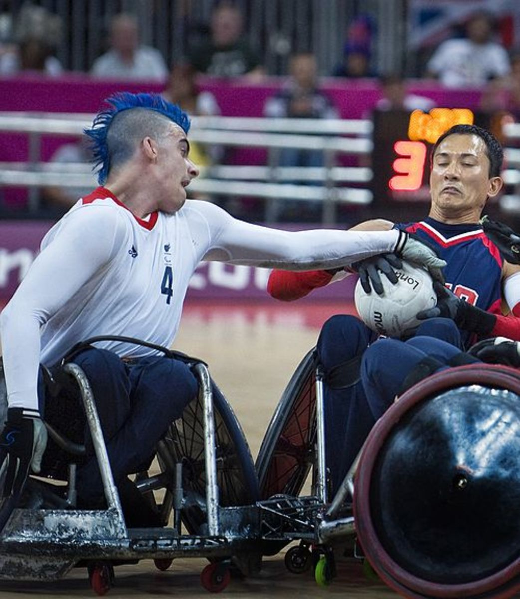 David Anthony, a British wheelchair rugby champion in the 2012 Summer Paralympics in London has undergone 11 spinal operations.