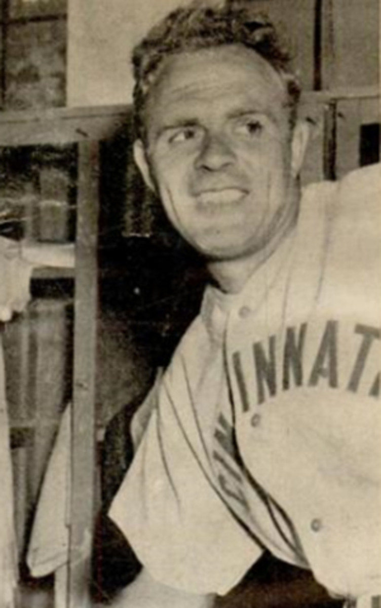 Johnny Vander Meer in a photo after his second consecutive no-hitter in 1938.