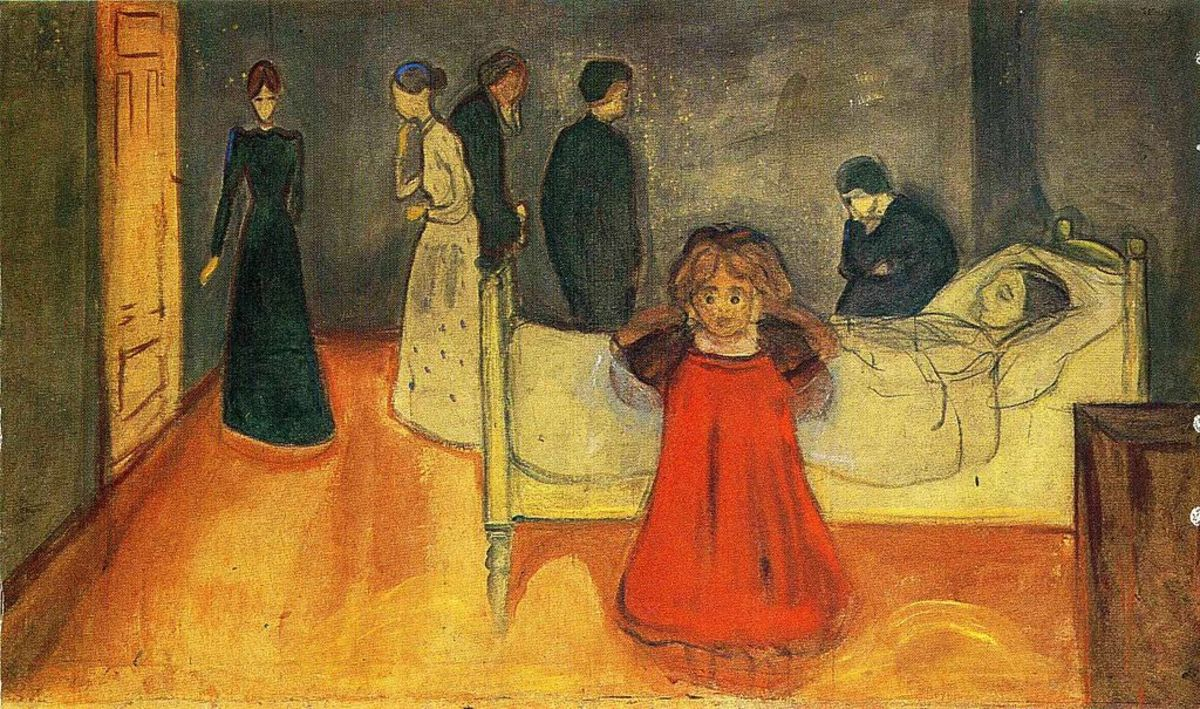 "(Figure 1) Edvard Munch, ""The Dead Mother and the Child"" (1897-9)"