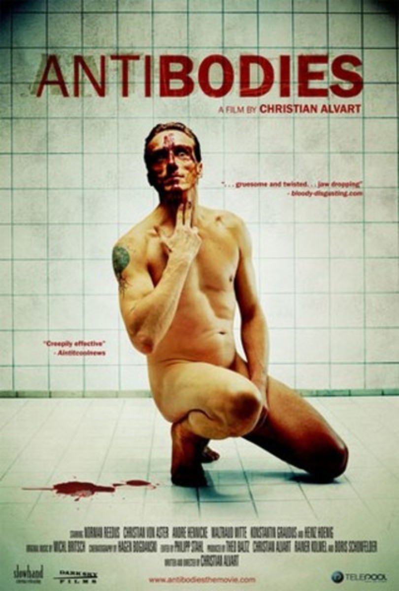 "The official DVD cover/poster for Christian Alvart's, ""Antibodies."""