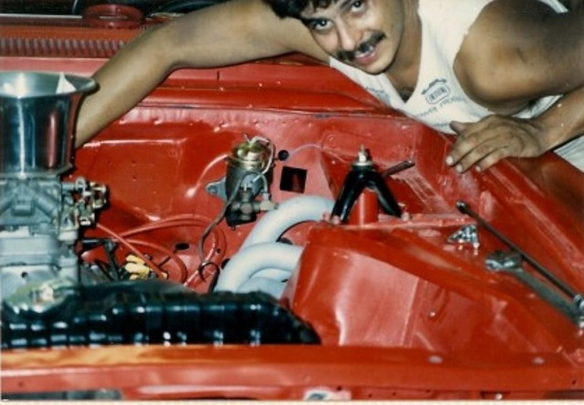 Racer X building his first race car, a 1964 Chevy Nova door slammer for bracket racing.