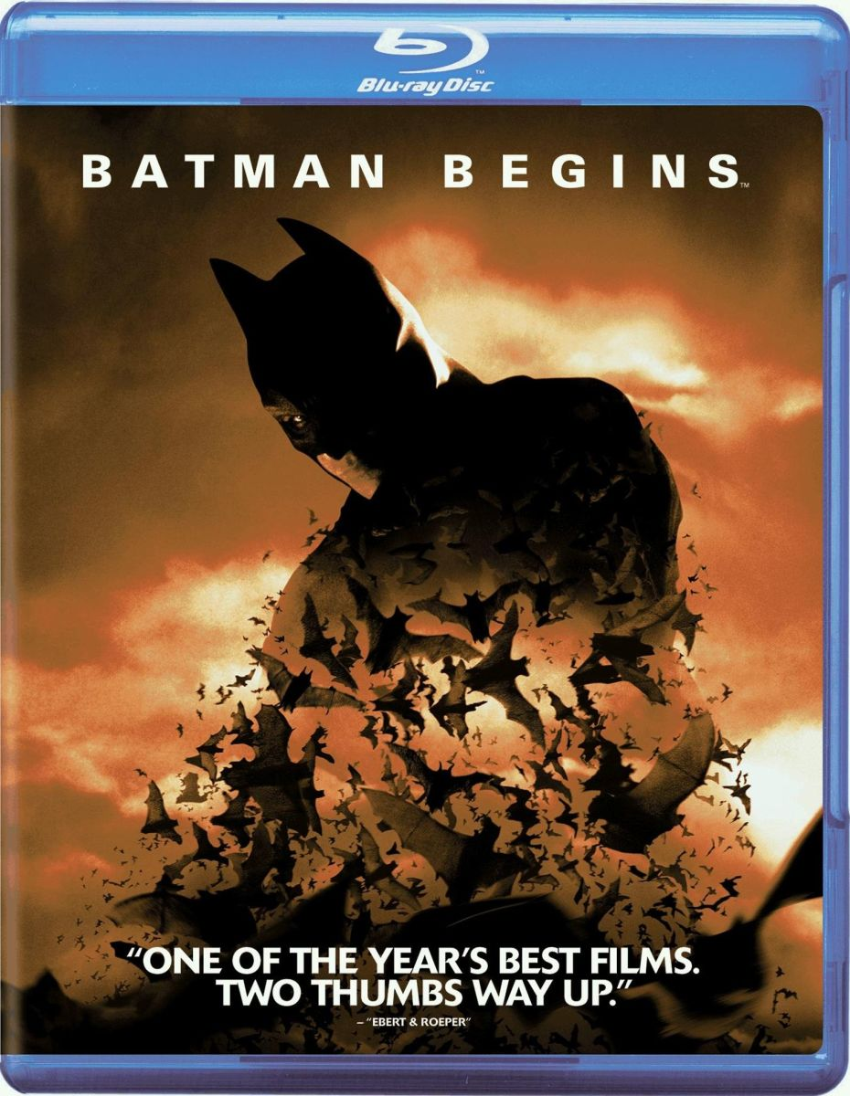 "One of several official covers for the, ""Batman Begins,"" Blu-ray."
