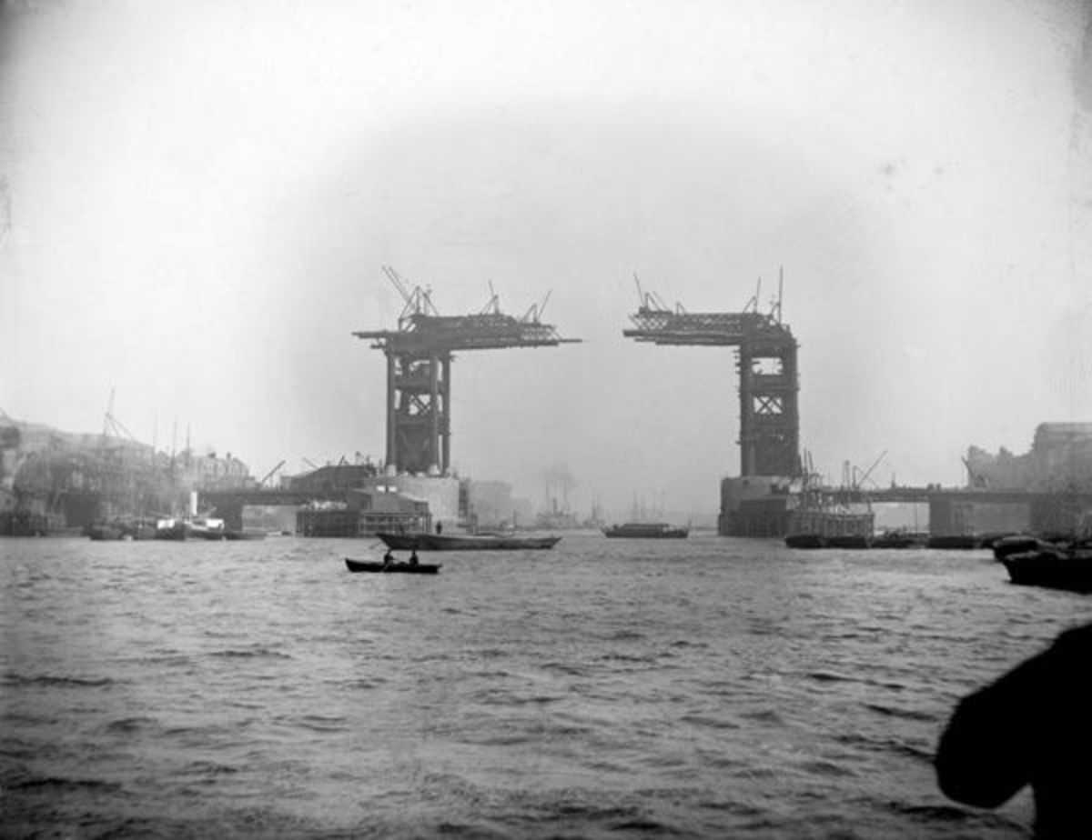 Early days of Tower Bridge and of photography