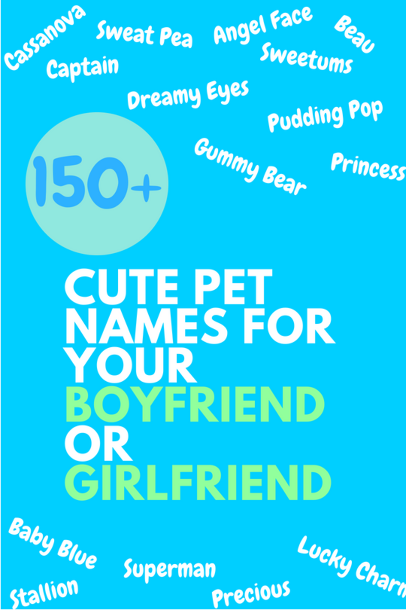 cute pet names for my girlfriend