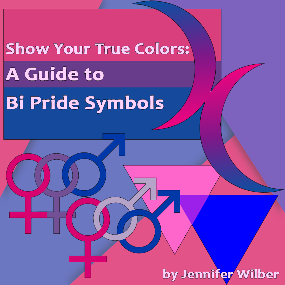 There are many different bi pride symbols that you may encounter at Pride celebrations.