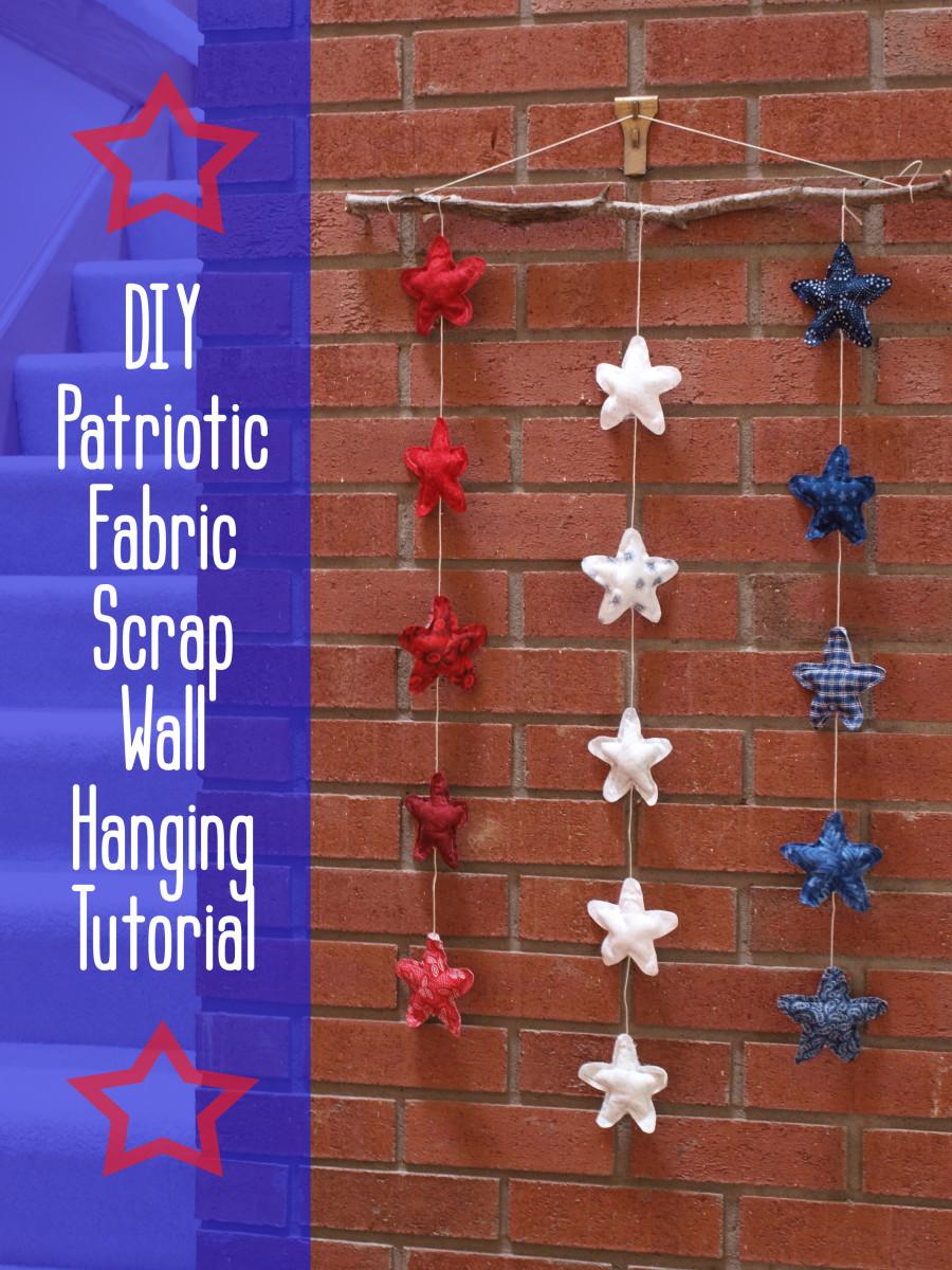 DIY Scrap Fabric Craft Tutorial: Rustic Patriotic Star Wall Hanging