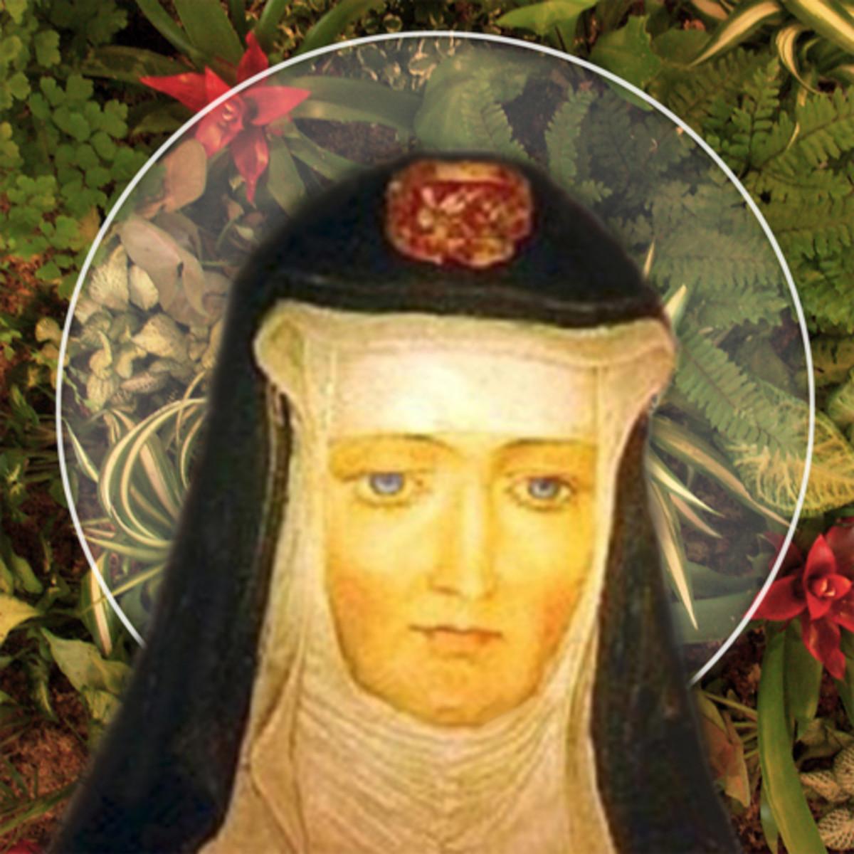 St. Hildegard of Bingen, a flourishing garden