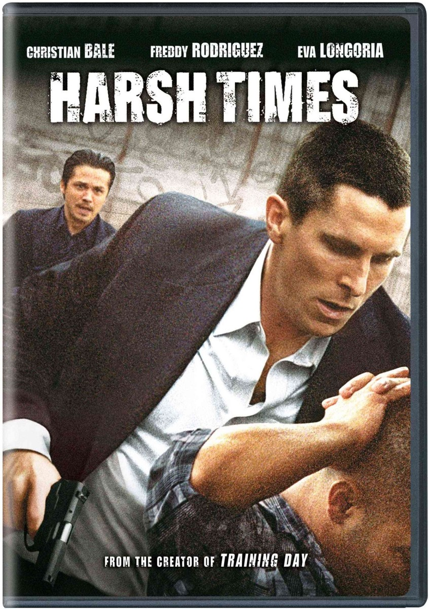 "The official DVD cover for, David Ayer's, ""Harsh Times."""