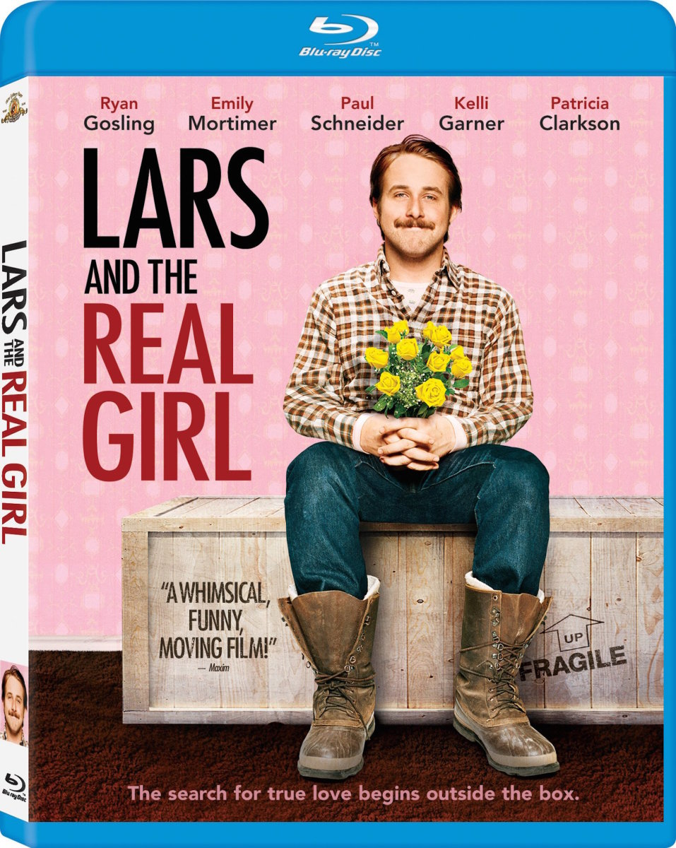 "The official Blu-ray cover for, ""Lars and the Real Girl."""