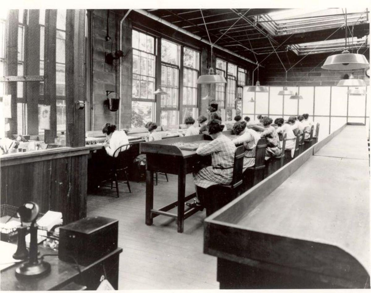 Radium Girls at work.