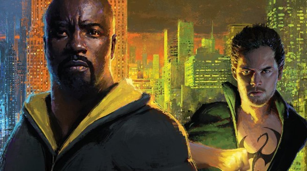 Heroes for Hire - Luke Cage (Mike Coulton) and Danny Rand, Iron Fist (Finn Jones).