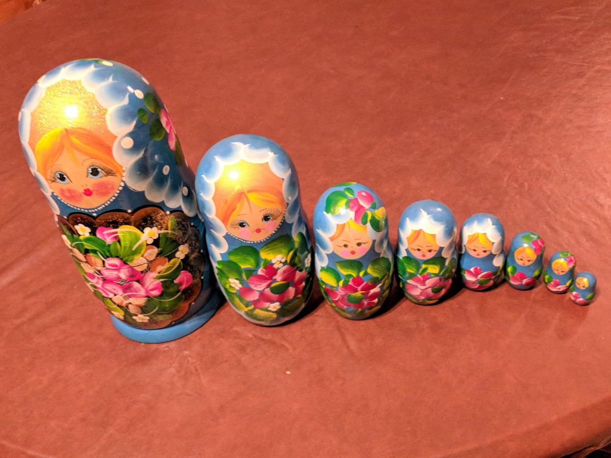 Pertuska or Nesting Dolls are Common Image Associated with Russia