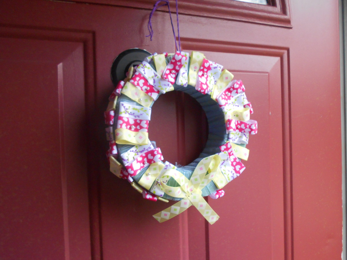 How to Make a Styrofoam and Ribbon Wreath