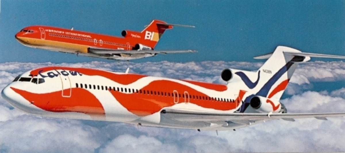 Braniff Airlines - Splash of Colors by John J. Nance
