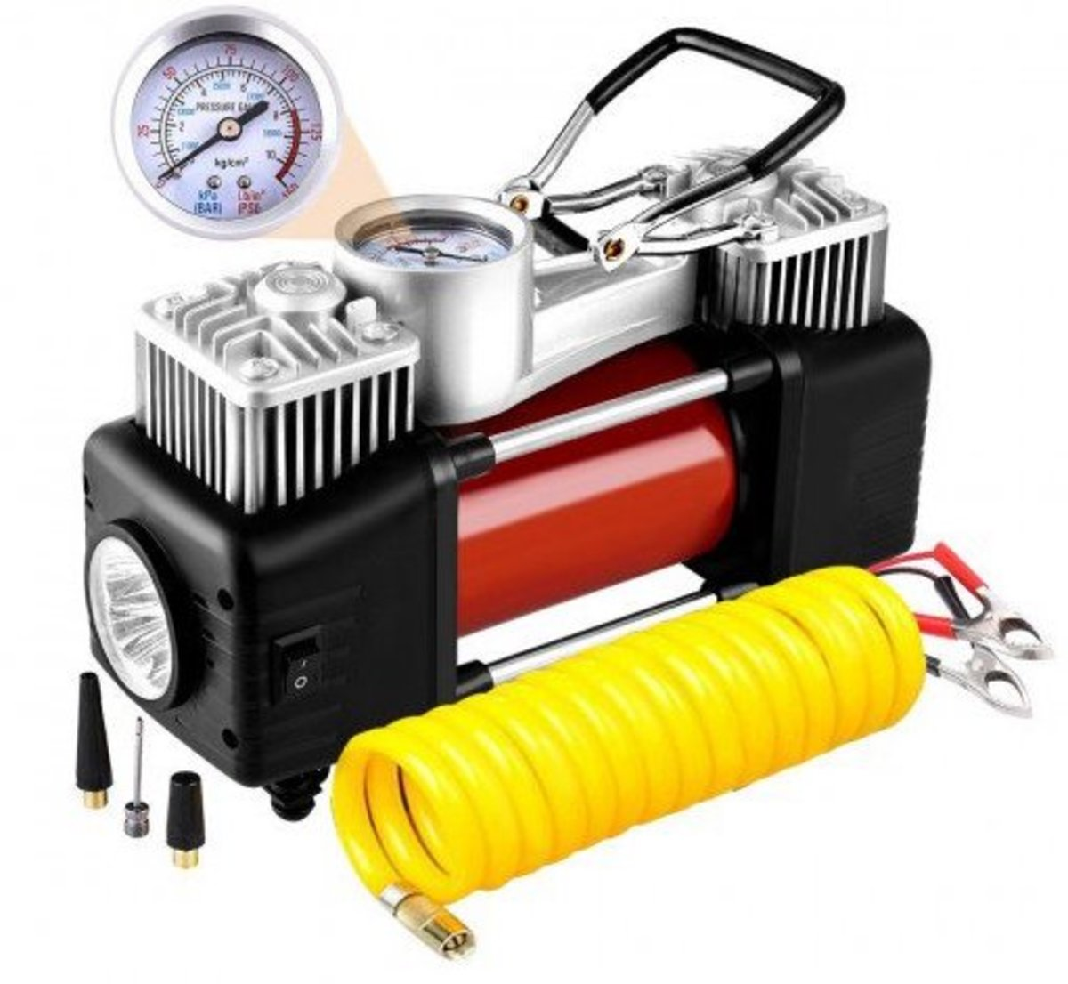 The Audew 2-Cylinder air compressor