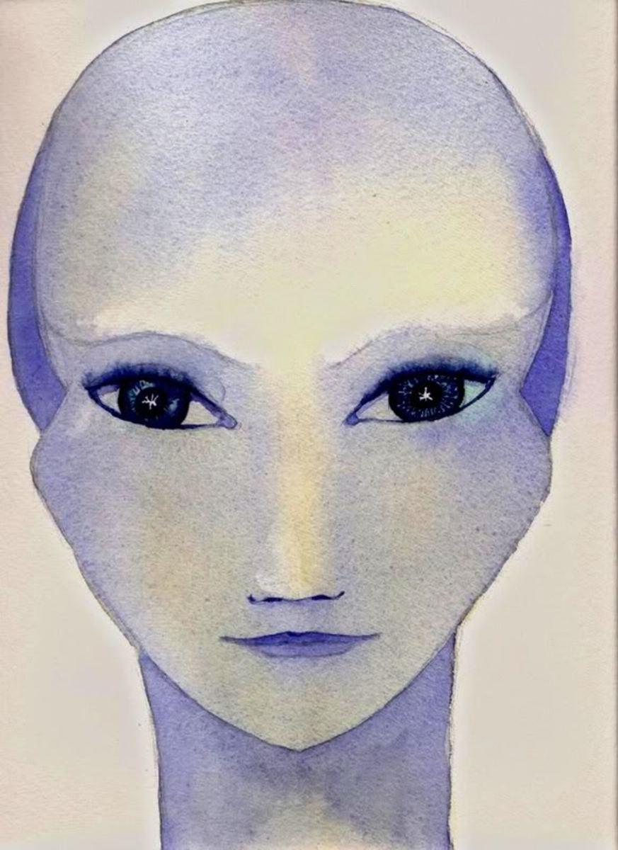 An artist's rendition of an Andromedan.