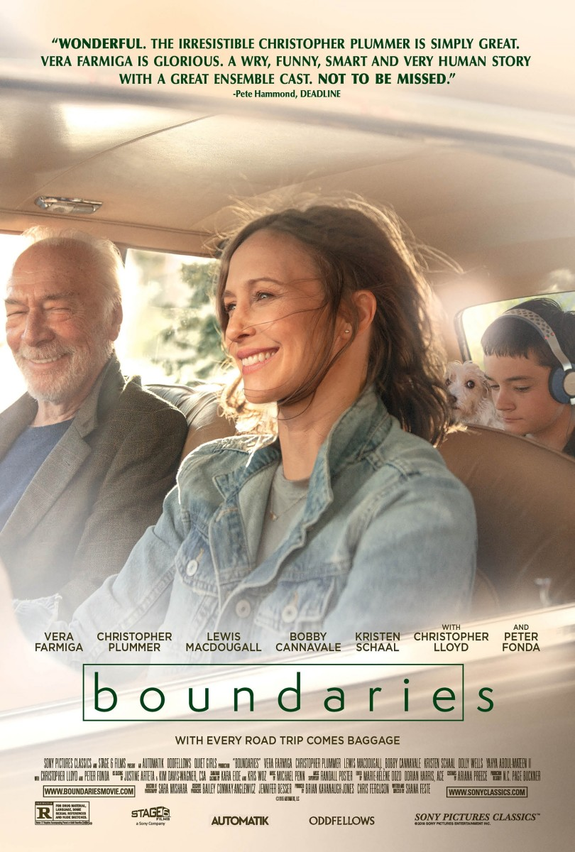 "The official one-sheet theatrical poster for, ""Boundaries."""