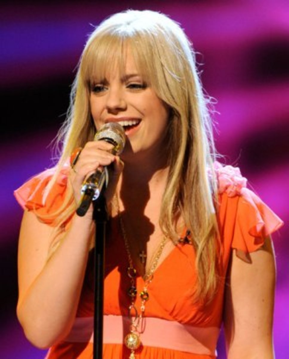 Kristen McNamara, finalist on American Idol, uses her vocal skills as taught to her by author, Audrey Hunt