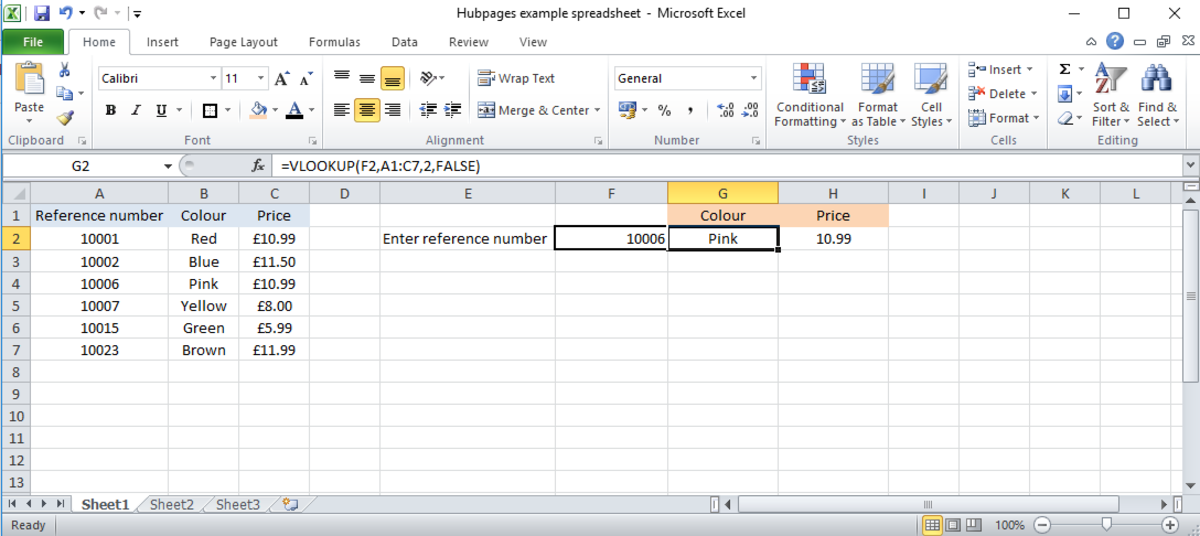 How to Use the VLOOKUP function in Microsoft Excel
