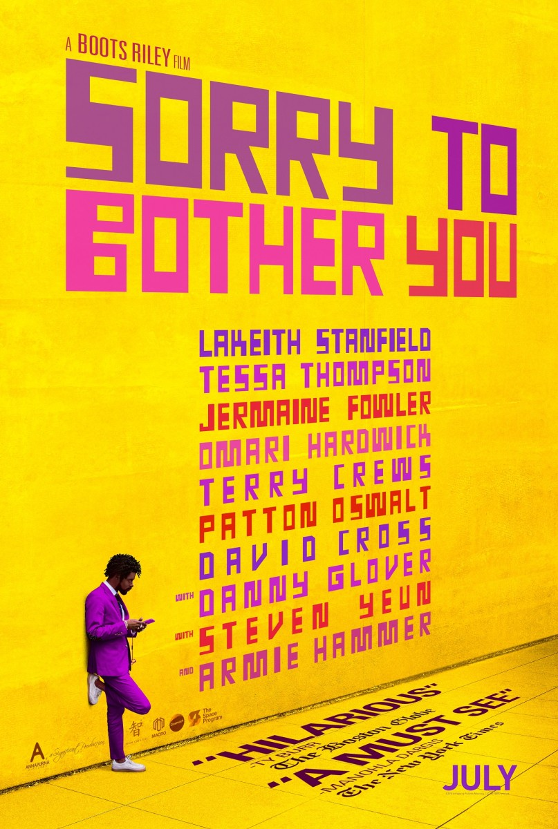 "One of the theatrical posters for, ""Sorry to Bother You."""