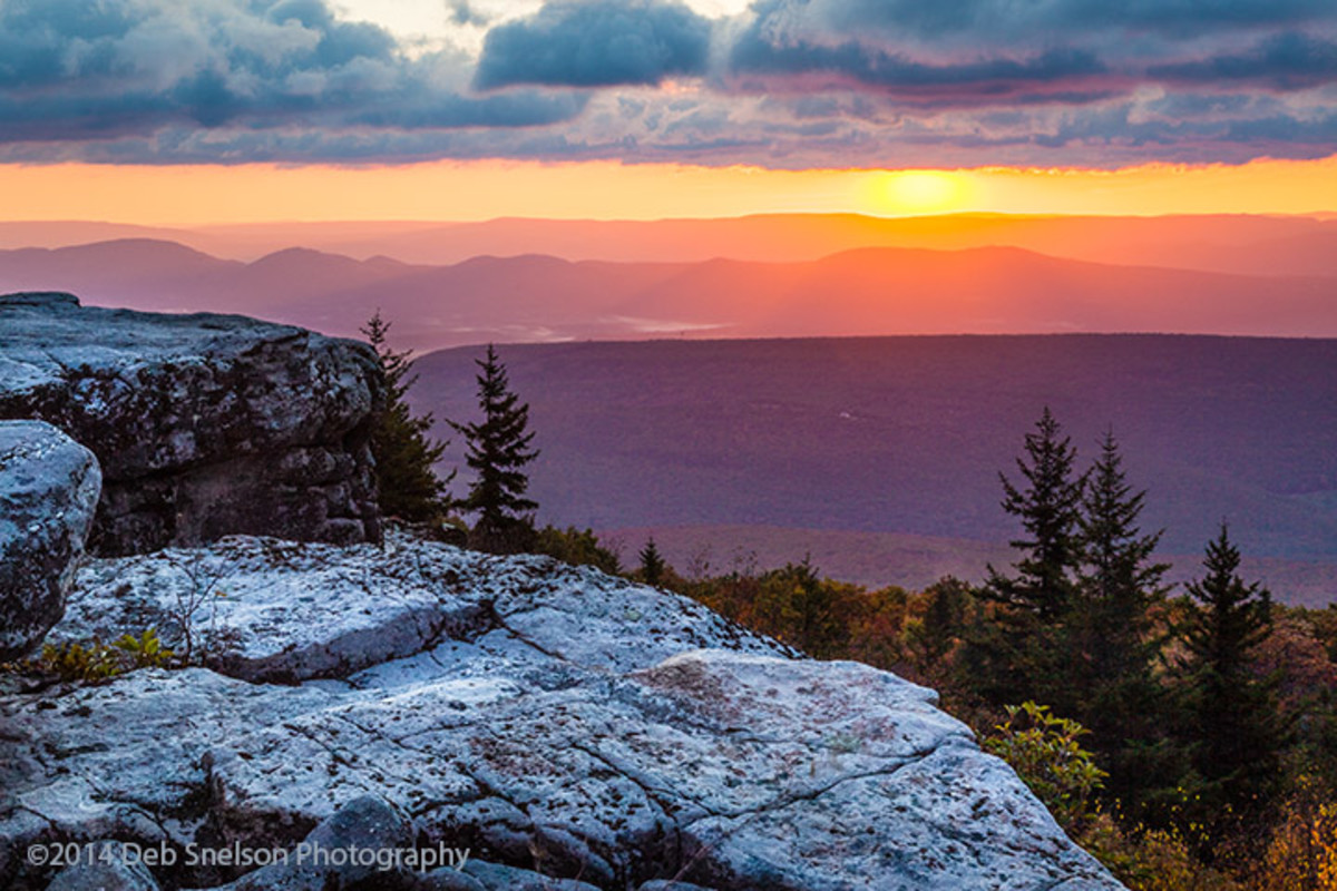 Bear Rocks Sunset in Dolly Sods, WV