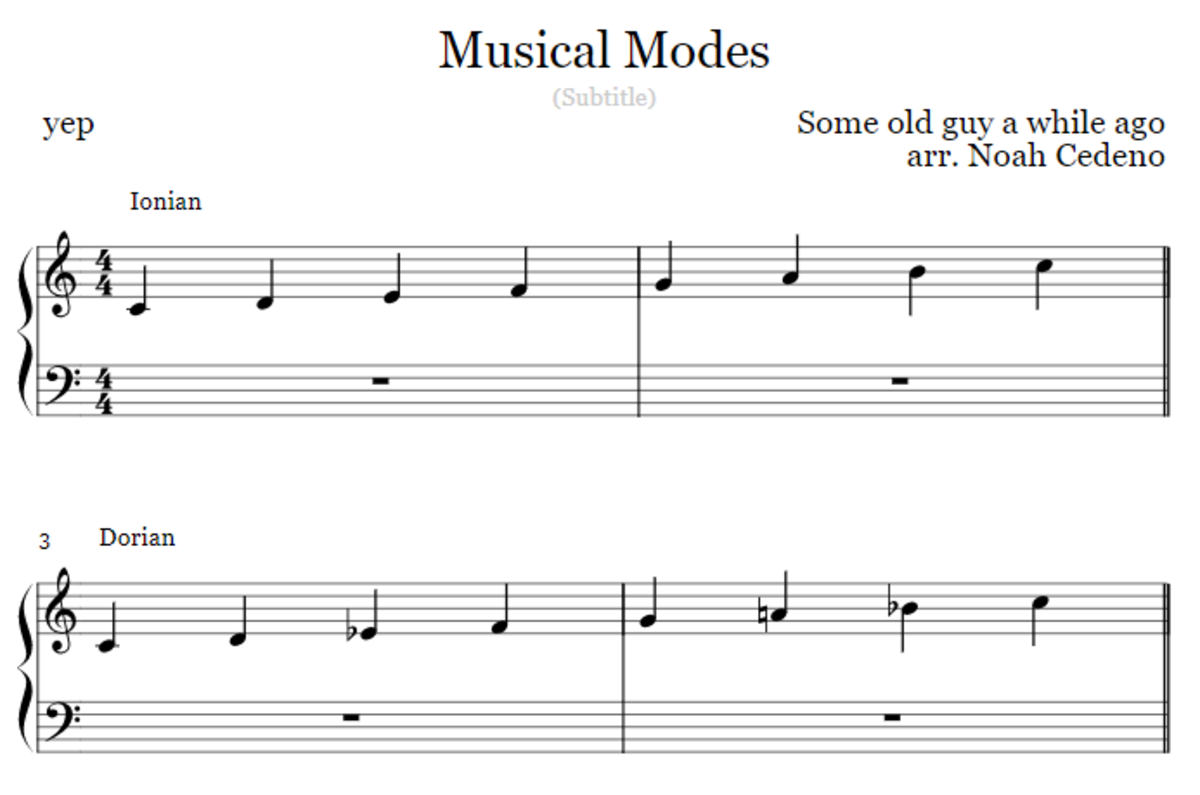 Memorizing the Musical Modes