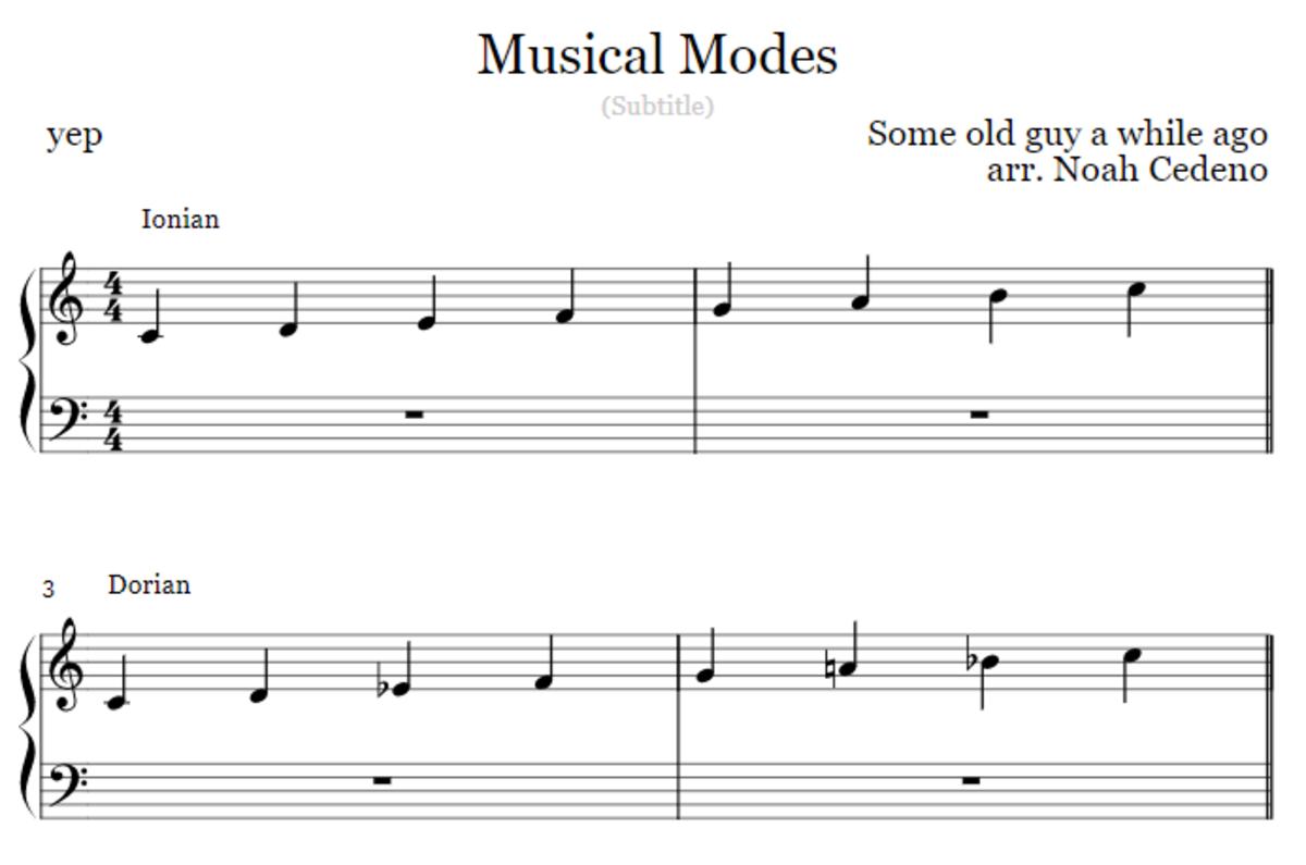 Memorizing the Musical Modes