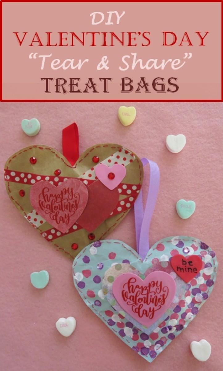 "DIY Valentine's Day ""Tear & Share"" Treat Bags"
