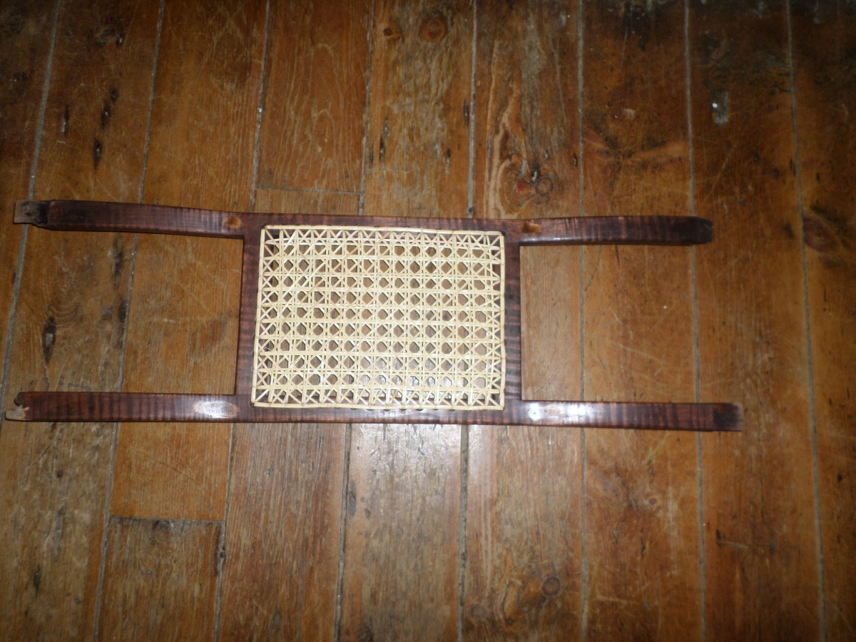 How to Make a Bent Frame Cane Woven Canoe Seat