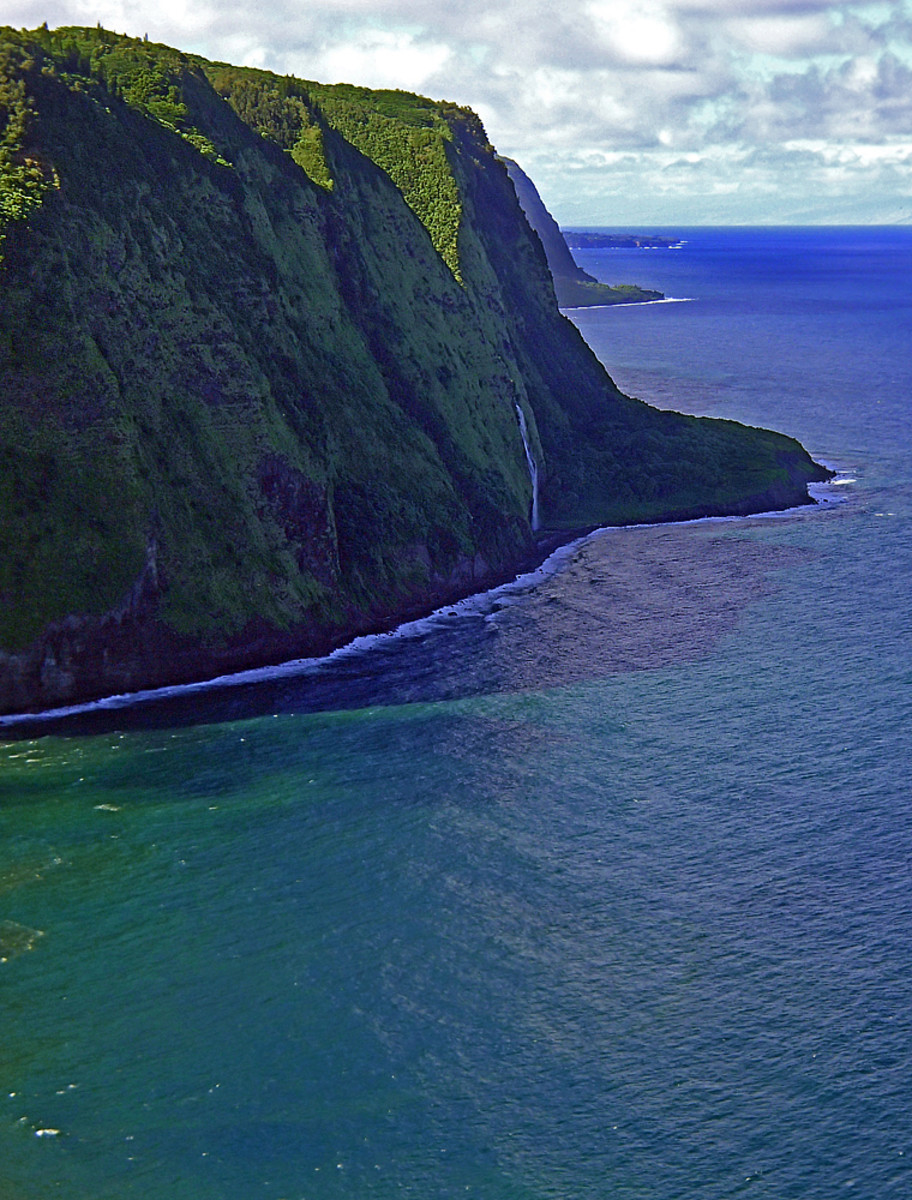 Hamakua coastal cliffs.