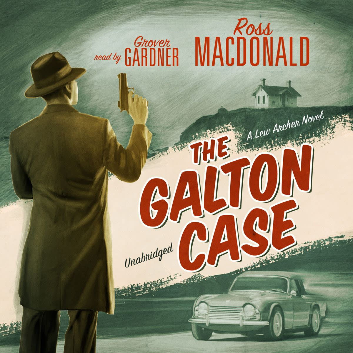 Cover to the audiobook version of The Galton Case