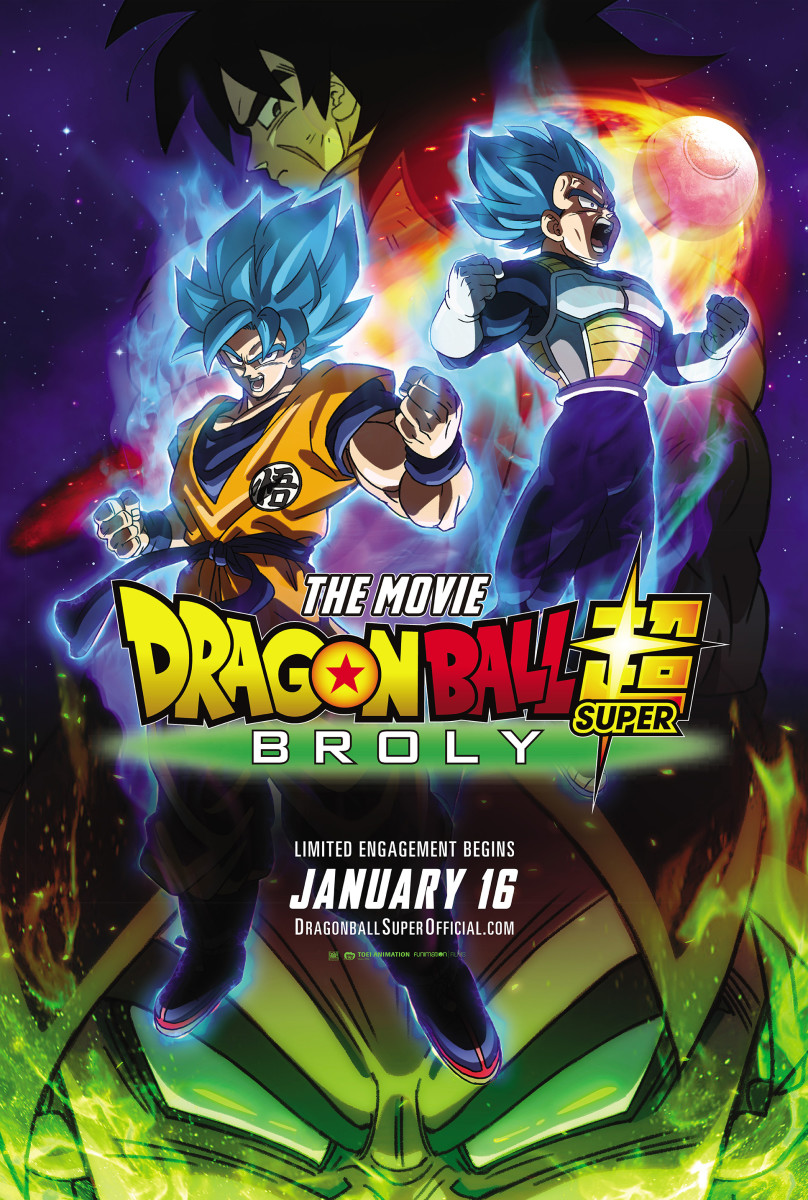 "The official theatrical poster for, ""Dragon Ball Super: Broly."""