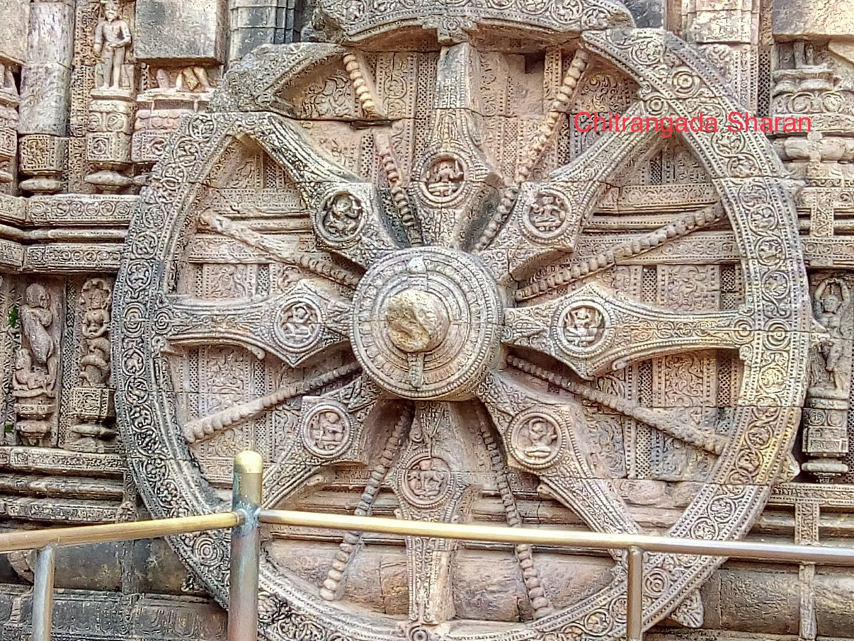 The giant wheel of the Sun Chariot, The Sun Temple, Puri, India: Inspiring To keep on moving, just like The Sun.