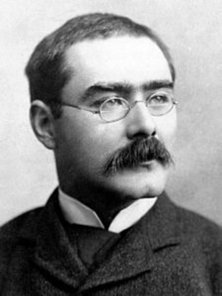 Rudyard Kipling, the man who coined the phrase 'The great game' of espionage.