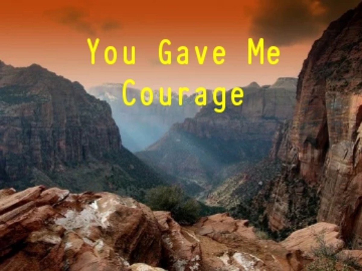 Poem:  You Gave Me Courage