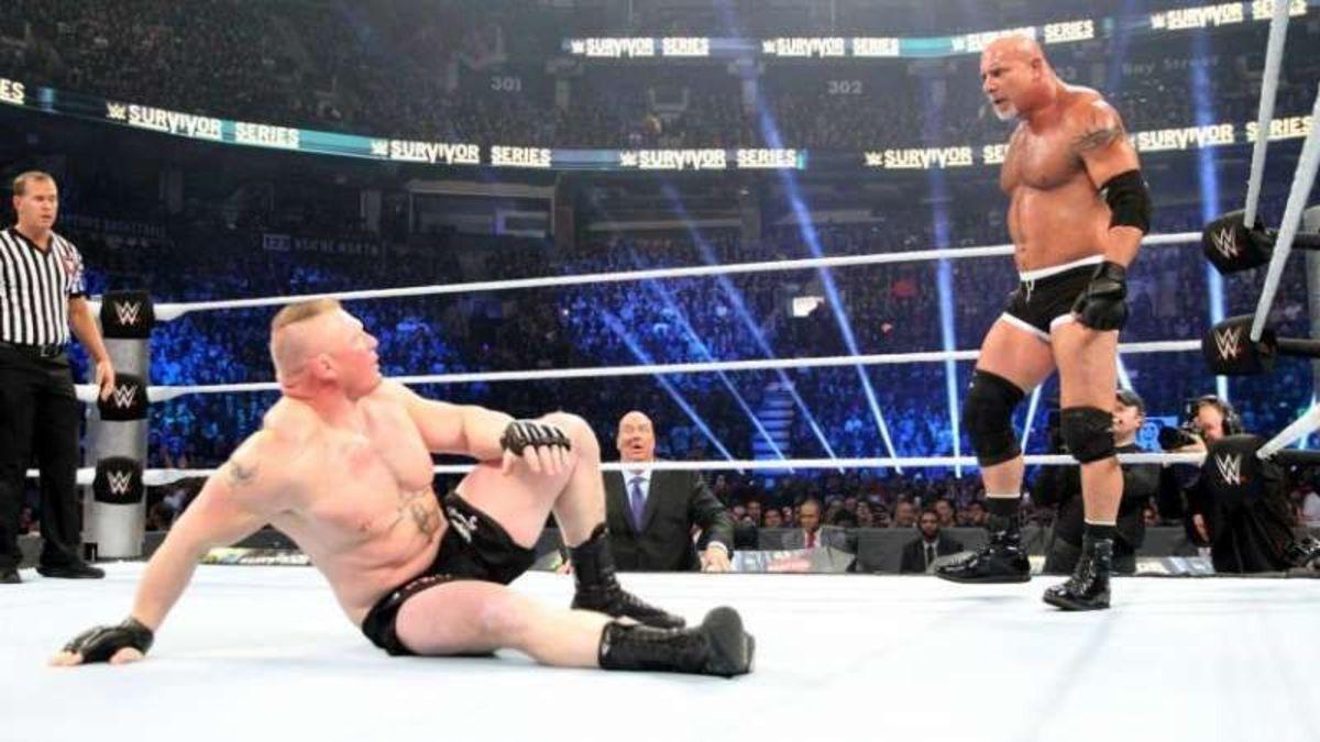Lesnar vs Goldberg