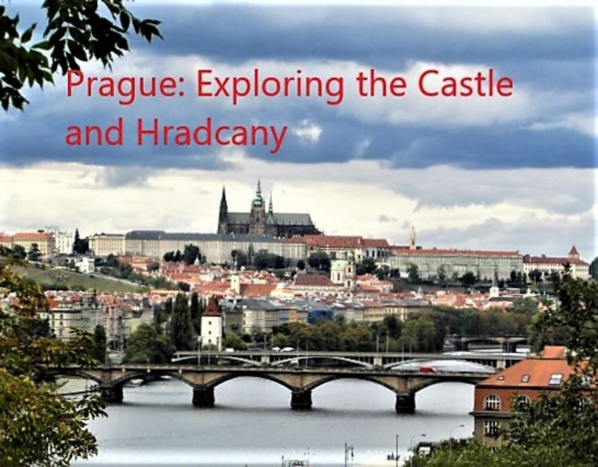 Prague Castle and Hradcany from Vysehrad.