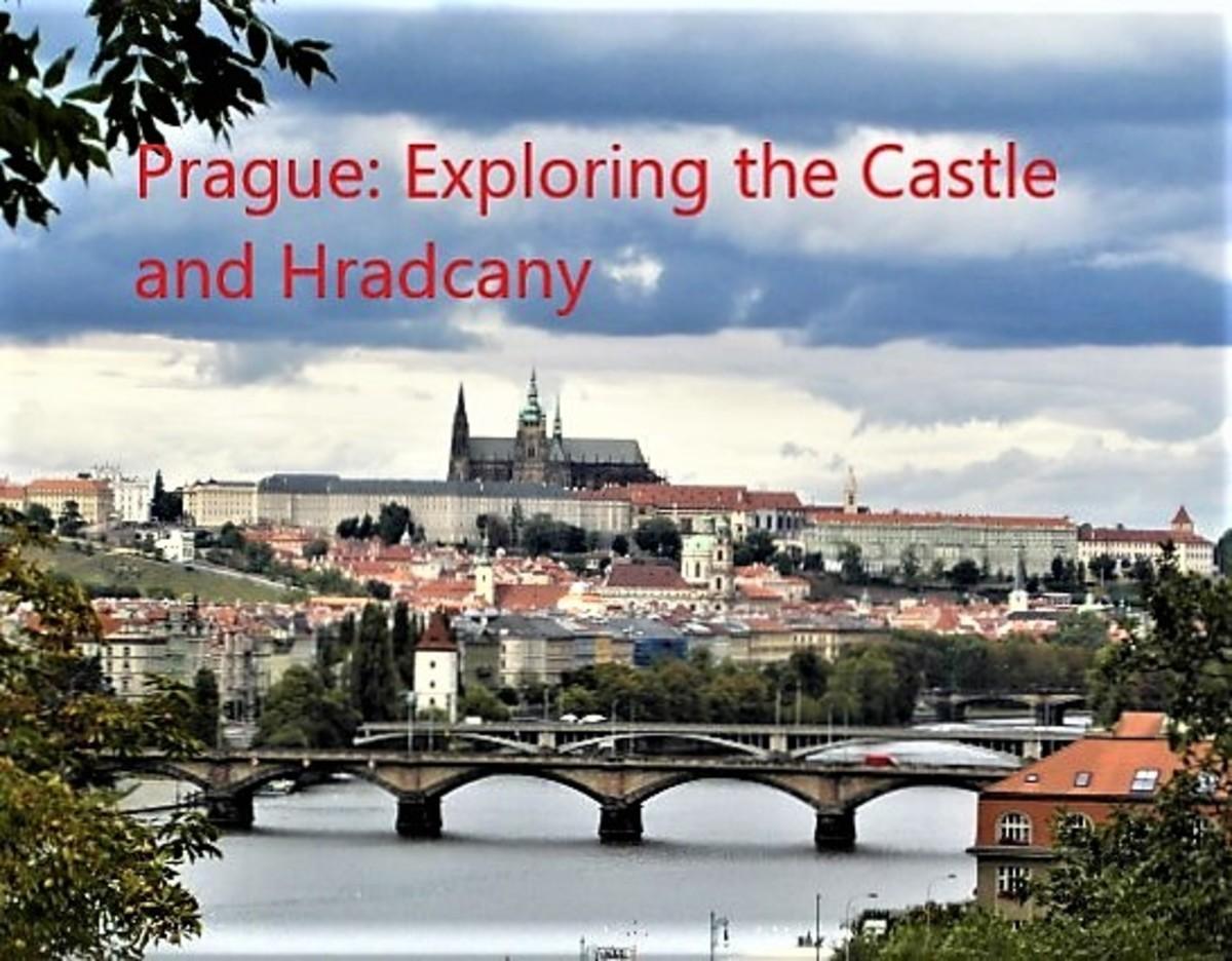 Prague Castle and Hradcany from Vysehrad.