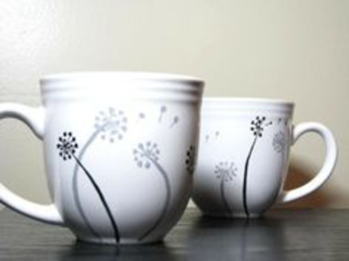 How To Decorate Coffee Mugs Feltmagnet Crafts