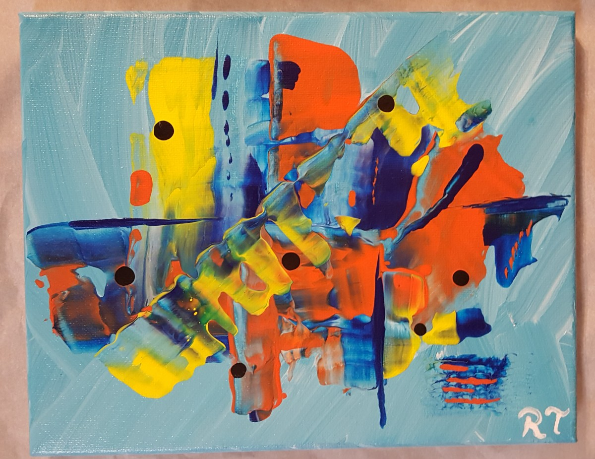 """Friendship"" original abstract art by Robin Turner"