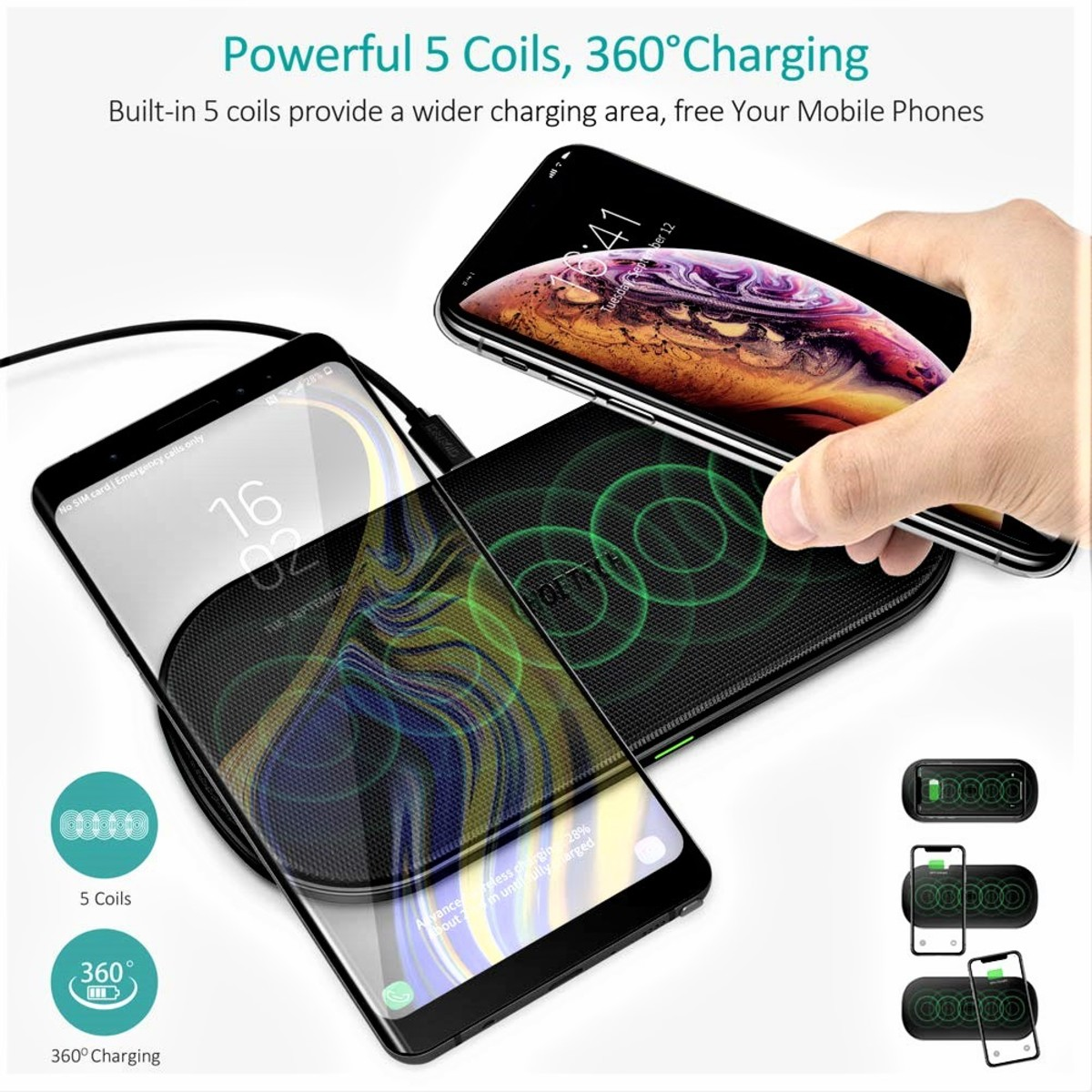 Review of Choetech 5-Coil Dual Fast Wireless Charger