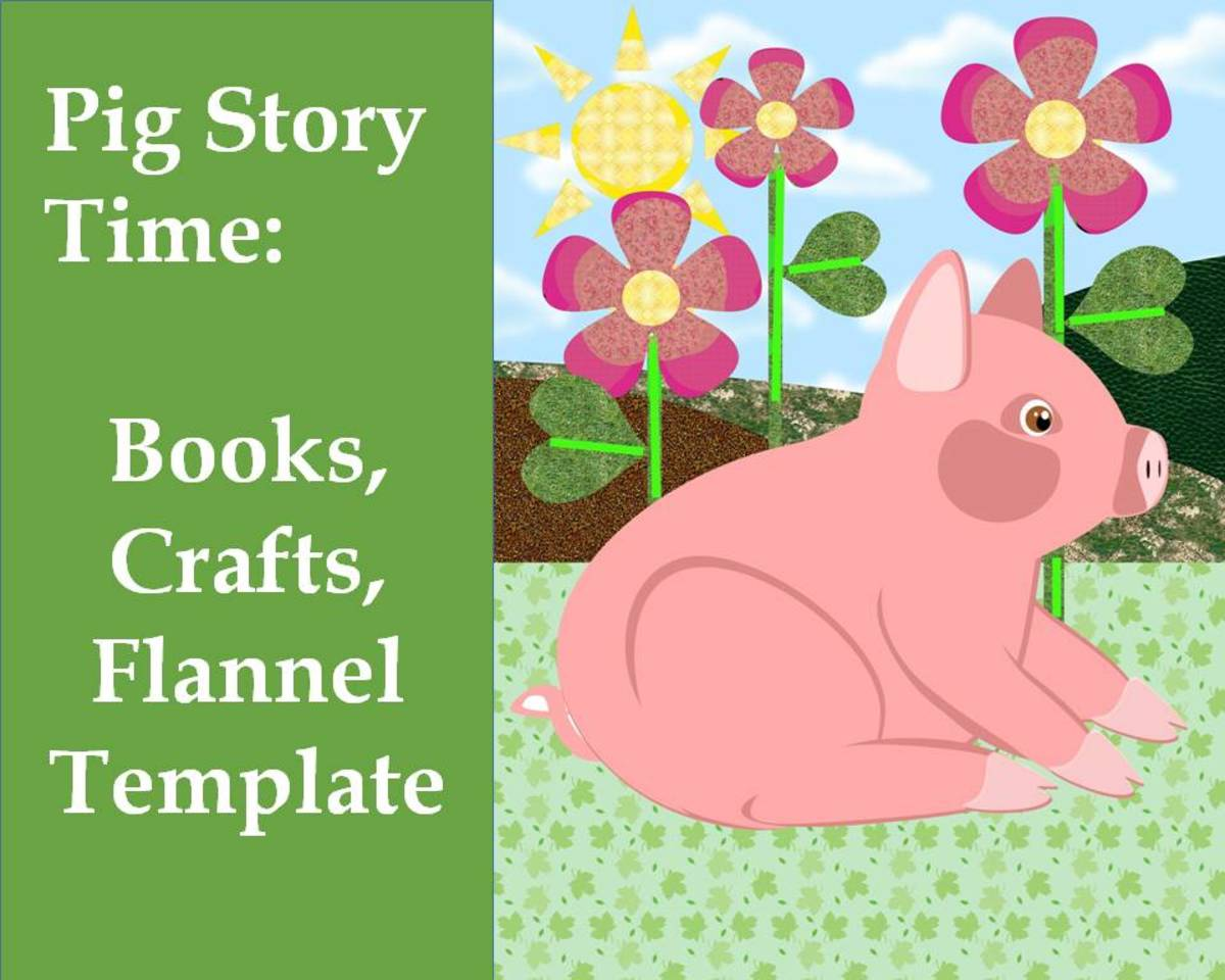 Pig Story Time Theme with Printable Crafts and Flannel Story: Preschool and Kindergarten
